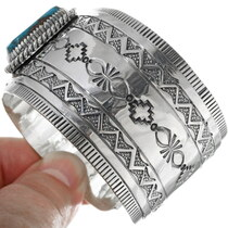 Native American Bisbee Turquoise Bracelet 33949