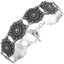 Sterling Silver Filigree Tennis Bracelet 33951
