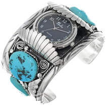 Vintage Big Boy Turquoise Watch Cuff 33963