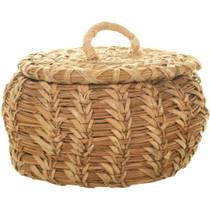 Lidded Basket Native American Made 33976