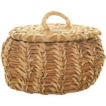 Lidded Basket Native American Made 33976