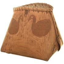 Cree Indian Ducks Design Pictorial Basket 33979