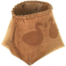 Authentic Cree Birch Bark Basket 33979