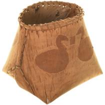 Authentic Cree Birch Bark Basket 33979