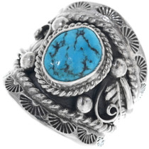 Navajo Turquoise Silver Ring 33981