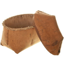 Birch Bark Basket Hand Made 33985