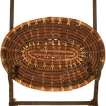 Vintage Pine Needle Tray Basket 33991