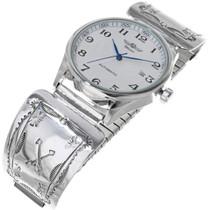 Vintage Navajo Sterling Silver Watch 33994