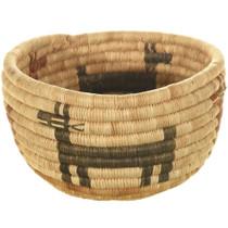 Authentic Hopi Polychrome Basket Bowl 34004