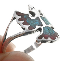 Southwestern Turquoise Coral Ring 34013