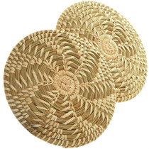 Basket Papago Spiral Split Stitch Basket 34023