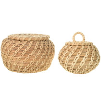 Authentic Lidded Papago Baskets 34031