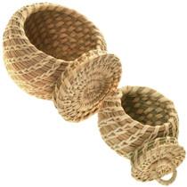 Vintage Papago Indian Basket Set of Two 34031