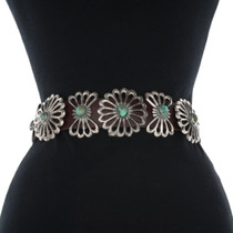 Green Turquoise Concho Belt 34043