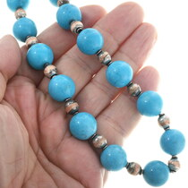 Turquoise Beaded Necklace 34058