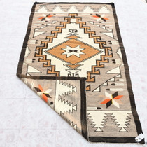 Traditional Navajo Rug Valero Stars and Feathers Pattern 34059