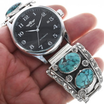 Turquoise Watch Navajo Thomas Francisco 34062