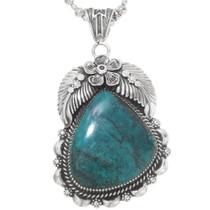 Navajo Turquoise Silver Pendant 28671