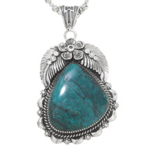 Navajo Turquoise Silver Pendant 28671