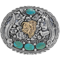 Hereford Bull Western Belt Buckle 17446