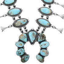 Royston Turquoise Squash Blossom Necklace 34092