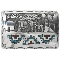 Navajo Storyteller Belt Buckle 34094