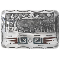 Navajo Storyteller Belt Buckle 34095