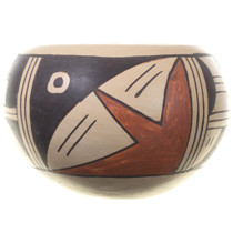 Vintage Hopi Polychrome Pottery Small Bowl
