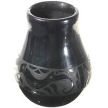 Santa Clara Blackware Jar Water Serpent Pottery