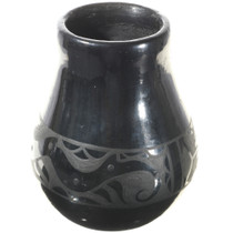 Santa Clara Blackware Jar Water Serpent Pottery