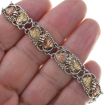 Black Hills 12K Gold Link Ladies Tennis Style Bracelet