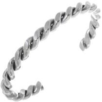 Navajo Silver Twist Wire Bracelet