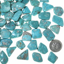 Blue Green Turquoise Natural Cabochons Backed 33451