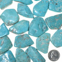 Southwest Turquoise Backed Jewelry Cabs 33454