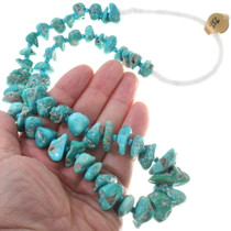 Native American Turquoise Beaded Wrap Necklace 34113