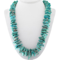Blue Green Turquoise Nuggets Beaded Necklace 34115