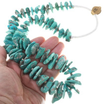 Native American Turquoise Bead Necklace Wrap 34115
