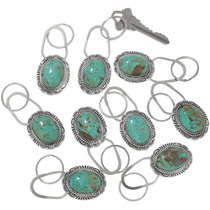 Navajo Hammered Sterling Silver Key Chain 34118