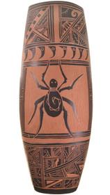 Vintage Hopi Etched Spider Pottery 34123