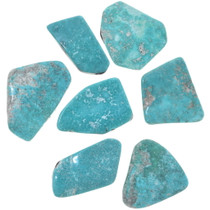 Large Freeform Turquoise Cabs Backed 33456