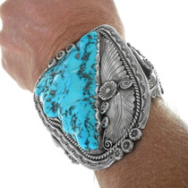 Rare Sleeping Beauty Turquoise Stone Cuff Bracelet