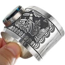 Navajo Floyd Becenti Jr Sterling Silver Bracelet 34129