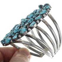 Navajo Sterling Silver Turquoise Bracelet 34130