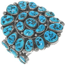 Vintage Sleeping Beauty Turquoise Silver Cuff 34131