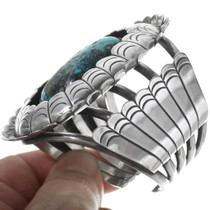 Old Pawn Navajo Silver Turquoise Bracelet 34132