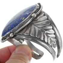 Heavy Sterling Silver Lapis Cuff Bracelet 34133