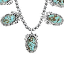 Sterling Silver Turquoise Navajo Necklace 29879