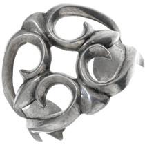 Old Pawn Sandcast Silver Western Bracelet 34136