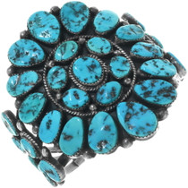 Traditional Navajo Turquoise Bracelet 34142