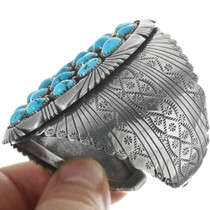 Old Pawn Native American Turquoise Bracelet 34143